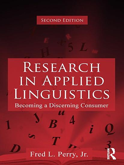 Research in Applied Linguistics PDF