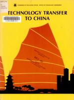 Technology Transfer to China PDF