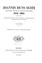 Opera omnia: Volume 7