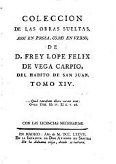 Coleccion De Las Obras Sueltas Assi En Prosa, Como En Verso: Volumen 14