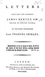 Letters ... to ... Lady Frances Shirley