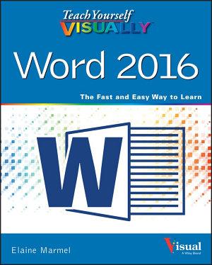 Teach Yourself VISUALLY Word 2016 PDF