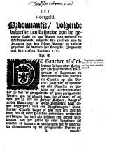 Veergeld. Ordonnantie, volgende dewelke [...] in Holland en Westvriesland [...] geheeven sal werden het veergeld; ingaande met den eersten ianuary 1750