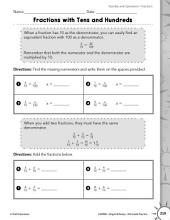 Operations with Fractions: Multiplying Fractions Practice