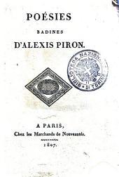 Poésies badines d'Alexis Piron