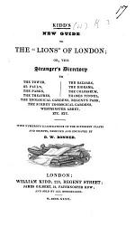 """Kidd's new Guide to the """"Lions"""" of London ... with ... illustrations ... engraved by G. W. Bonner"""