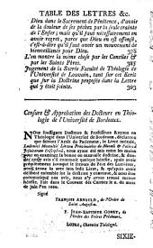 Les provinciales ou Lettres écrites par Louis de Montalte à un provincial de ses amis & aux RR. PP. Jésuites sur la morale & la politique de ces pères: Volume2