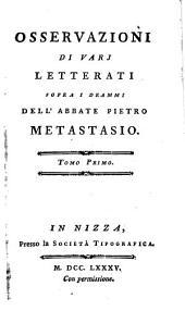 Osservazioni di vari letterati sopra i drammi dell ́ Abbate --