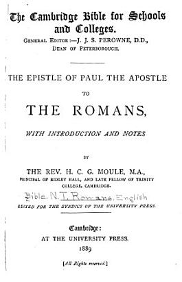 The Epistle of Paul the Apostle to the Romans