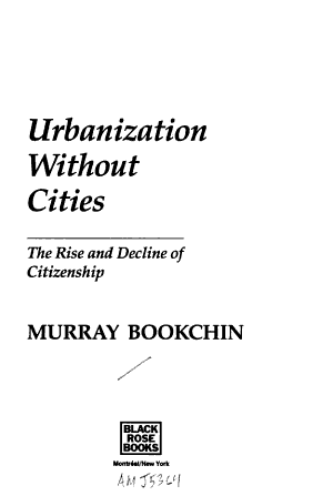 Urbanization Without Cities