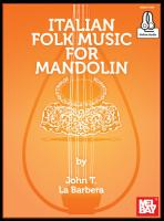 Italian Folk Music for Mandolin PDF