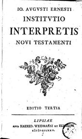 Institutio interpretis Novi Testamenti