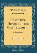 Download A Critical History of the Old Testament Book