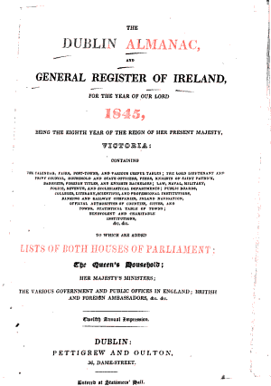 Dublin Almanac and General Register of Ireland