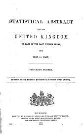 Statistical Abstract for the United Kingdom: Issues 1853-1870