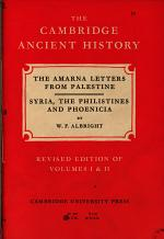 Amarna Letters from Palestine, Syria, the Philistines and Phoenicia