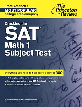 Cracking the SAT Math 1 Subject Test PDF