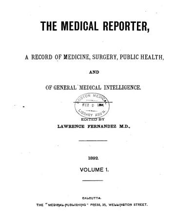 The Medical Reporter PDF