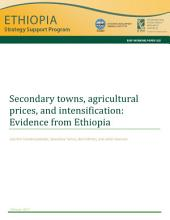 Secondary towns, agricultural prices, and intensification: Evidence from Ethiopia