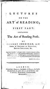 Lectures on the Art of Reading: Part 1
