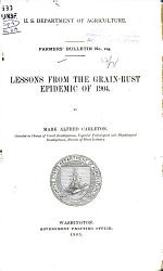 Lessons From The Grain Rust Epidemic Of 1904 Book PDF