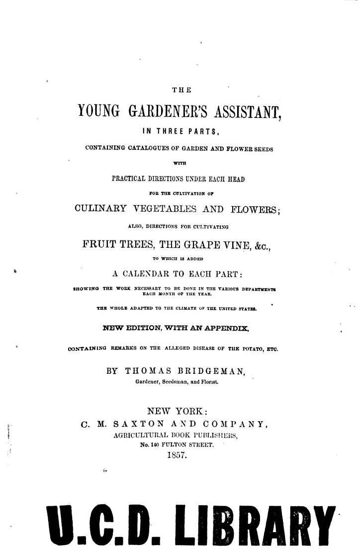 The Young Gardener's Assistant,