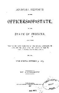 Annual Reports of the Officers of State of the State of Indiana PDF