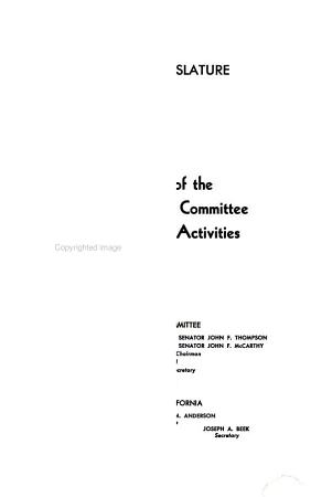 Report of the Senate Fact Finding Committee on Un American Activities PDF