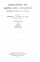 Congress of Arts and Science  Economics  Politics  Jurisprudence  Social Science PDF