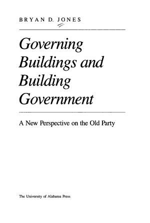 Governing Buildings and Building Government PDF