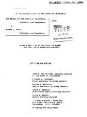 California. Supreme Court. Records and Briefs: S010662, Petition for Review