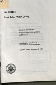 Pollution  Great Lakes Water Quality Book