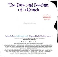 The Care And Feeding Of A Grinch Book PDF