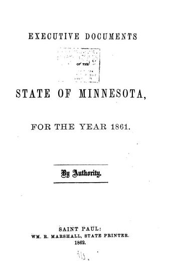 Executive Documents of the State of Minnesota for the Year     PDF