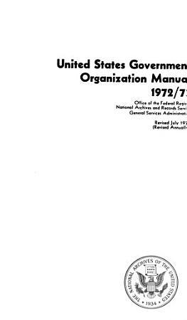 United States Government Organization Manual PDF