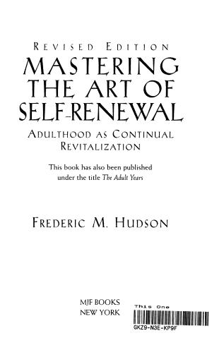 Mastering The Art Of Self Renewal