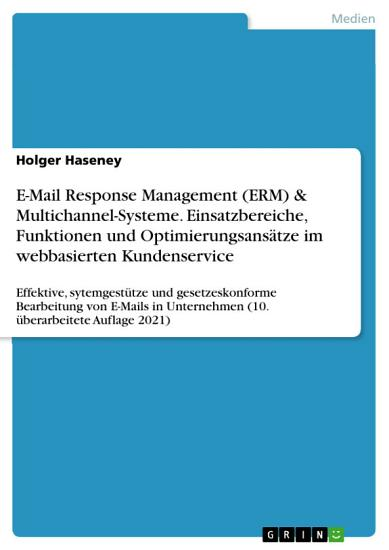 E Mail Response Management Systeme  ERMS  PDF