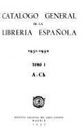 Cat  logo general de la librer  a espa  ola  1931 1950 PDF
