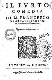 Il Furto comedia di M. Francesco D'Ambra cittadino, & accademico fiorentino