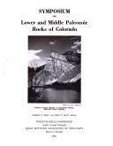 Download Symposium on Lower and Middle Paleozoic Rocks of Colorado Book
