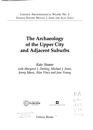 The Archaeology of the Upper City and Adjacent Suburbs PDF