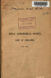 List of the Fellows of the Royal Astronomical Society