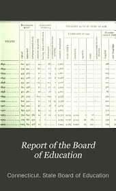 Report of the Board of Education