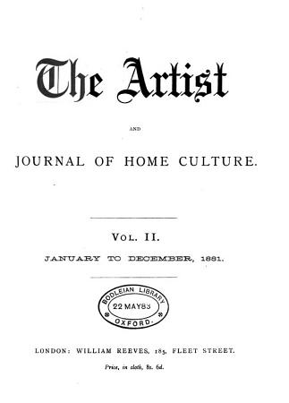 The Artist and Journal of Home Culture PDF