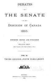 Debates of the Senate: Débats du Sénat, Volume 2