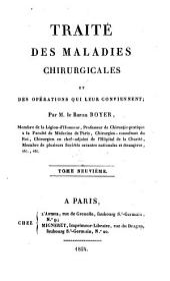 Traité des maladies chirurgicales et des opérations qui leur conviennent: Volume9