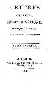 Lettres choisies en français et en anglais: Volume1