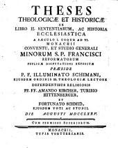 Ex libro II. Sententiarum ...