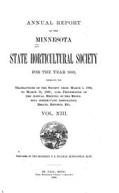 The Minnesota Horticulturist: Annual report of the Minnesota State Horticultural Society