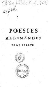 Choix de poésies allemandes, par m. Huber. Tome premier [-quatrième]: Volume2